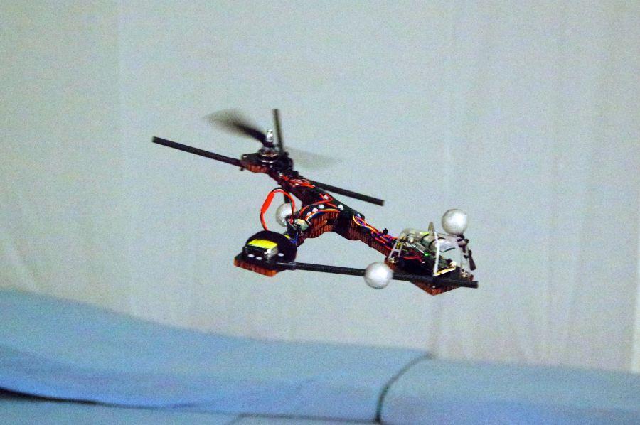 The Monospinner in flight.