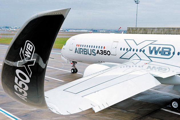 Curved winglets reduce the drag caused by vortices and increase fuel efficiency