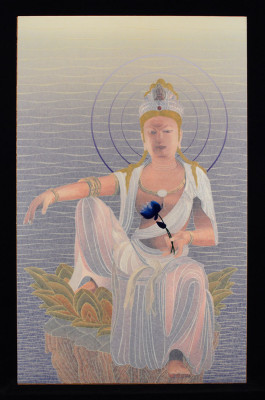 Guanyin is a 2009 chromogenic print with mixed media by Patrick Nagatani. (Courtesy of Andrew Smith Gallery)
