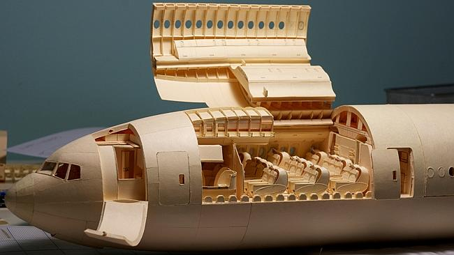 The incredible plane model. Picture: Luca Iaconi-Stewart