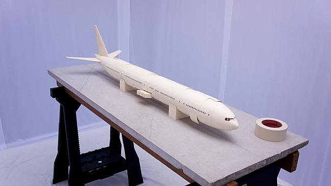 The aircraft model. Picture: Luca Iaconi-Stewart