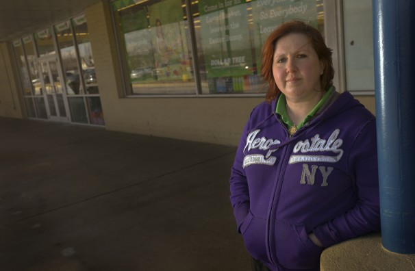 Rebecca Pentz-Jones is a mother of four who works part-time at the Dollar Tree in Middle River, Md.
