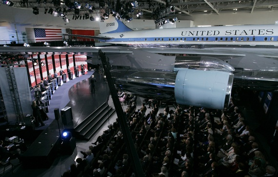 A retired Air Force One now resides in the Reagan Library in California, where two Republican presidential debates have been held. (Mark J. TerrillAP)