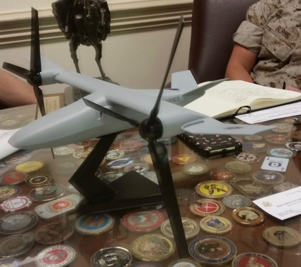 X-247 armed drone model