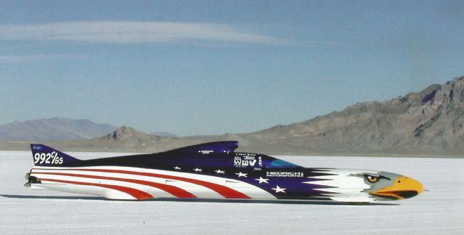 014 Hedrich American Eagle Streamliner Bonneville Side