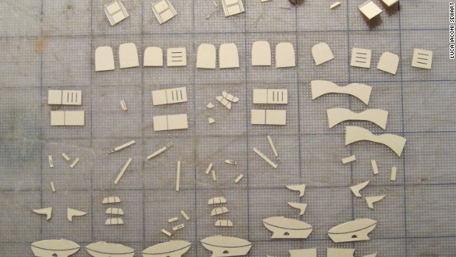 The model maker had to copy many of his design drawings from pictures of the Boeing -- until he came across a plane maintenance manual.