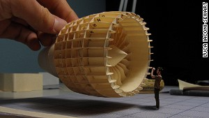Plane fan: Some parts look like sculpture.
