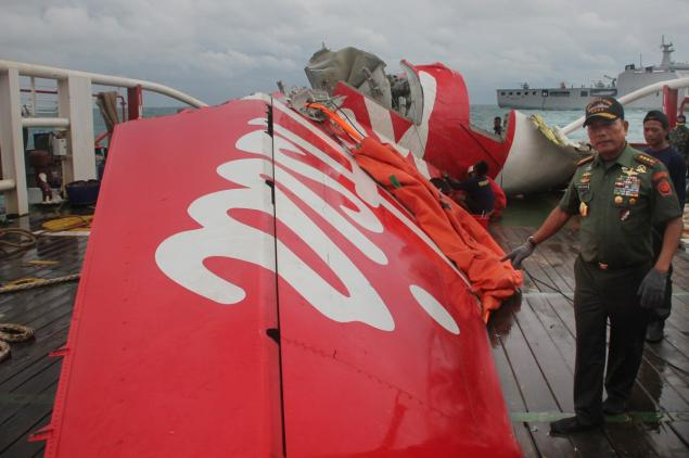 Authorities found wreckage of AirAsia Flight QZ8501, an Airbus A320 that crashed in December, in the Java Sea after it took off from Indonesia.