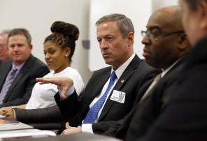 Gov. Martin O'Malley speaks during a roundtable discussion with business owners who support raising the minimum wage March 6 in Upper Marlboro.