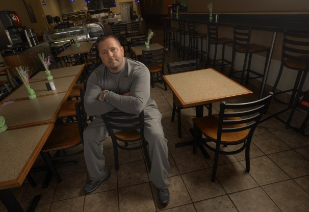 Robert Bowles is a 38-year-old father of three who has opened a diner in the strip mall with his wife.