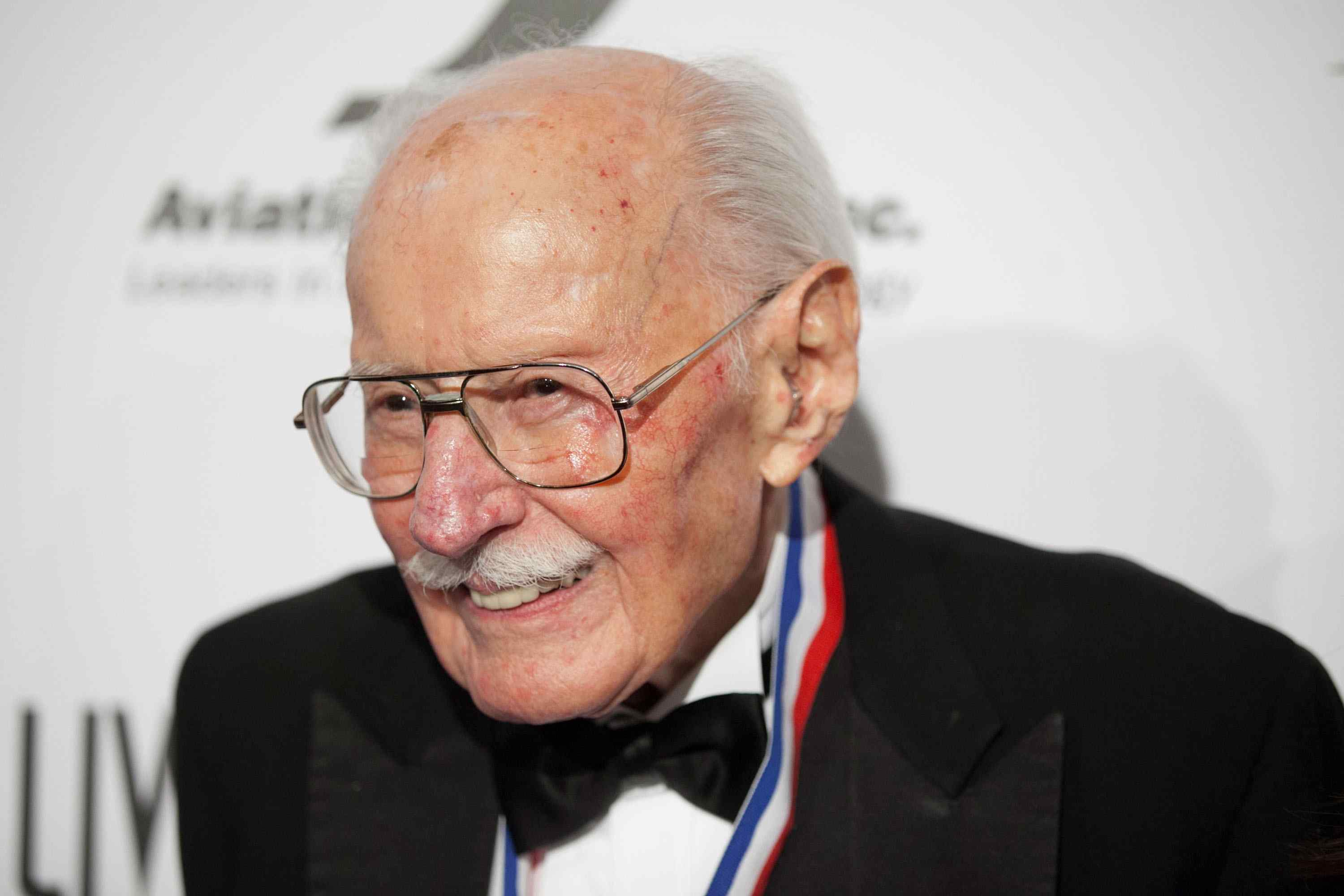 Bob Hoover arrives for the 11th Annual Living Legends Of Aviation Awards in Beverly Hills, California. 2014 file photo. (Photo by Gabriel Olsen/Getty Images)